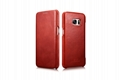 iCarer Samsung Galaxy S7 Edge Vintage Series Side Open Genuine Leather Case 3