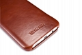 iCarer Samsung Galaxy S7 Edge Vintage Series Side Open Genuine Leather Case 12