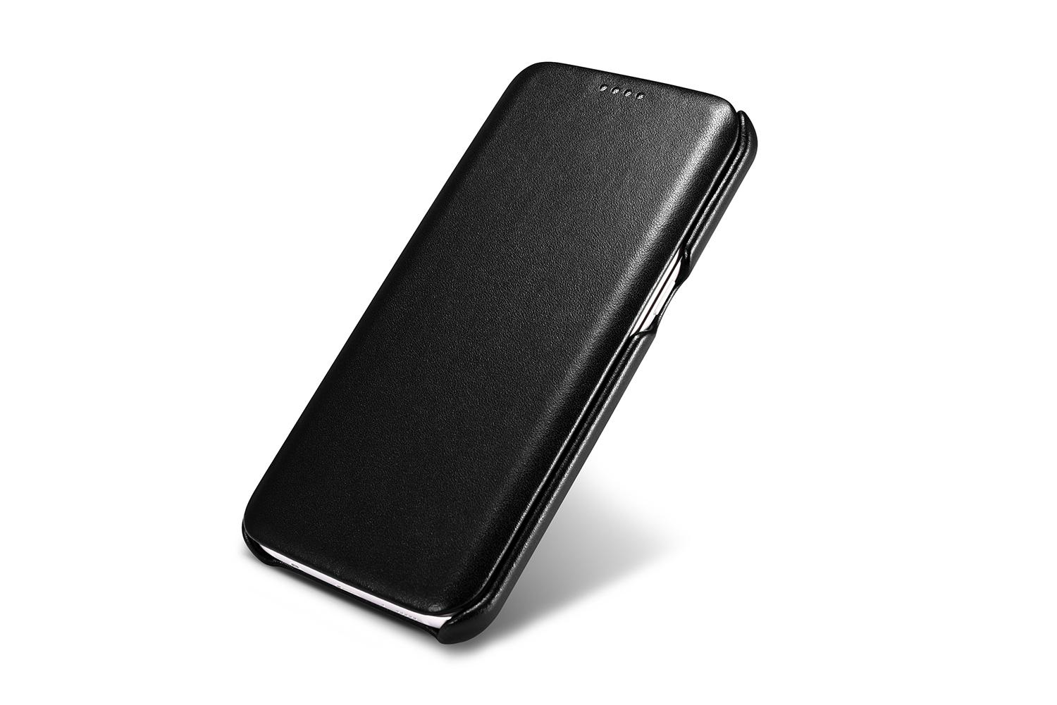 iCarer Samsung Galaxy S7 Edge Luxury Series Side Open Genuine Leather Case 7