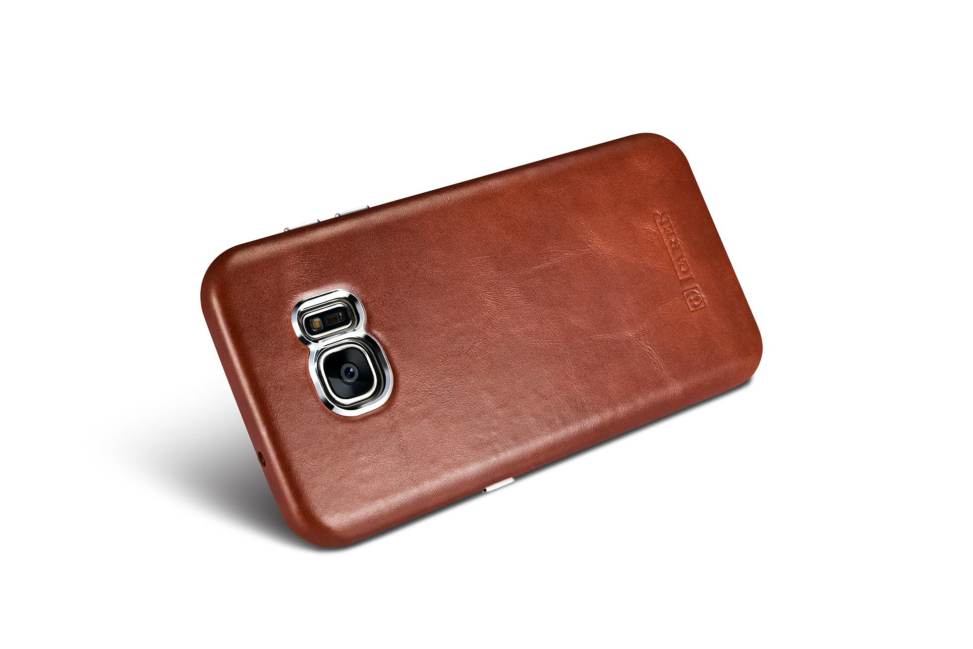 iCarer Samsung Galaxy S7 Edge Vintage Back Cover Series Genuine Leather Case 10