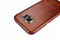 iCarer Samsung Galaxy S7 Edge Vintage Back Cover Series Genuine Leather Case 16