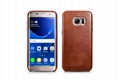 iCarer Samsung Galaxy S7 Edge Vintage Back Cover Series Genuine Leather Case 2