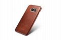 iCarer Samsung Galaxy S7 Edge Vintage Back Cover Series Genuine Leather Case 7