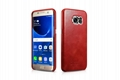 iCarer Samsung Galaxy S7 Edge Vintage Back Cover Series Genuine Leather Case 3