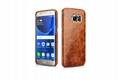 iCarer Samsung Galaxy S7 Edge Oil Wax Back Cover Series Genuine Leather Case 7
