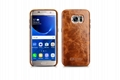 iCarer Samsung Galaxy S7 Edge Oil Wax Back Cover Series Genuine Leather Case 8