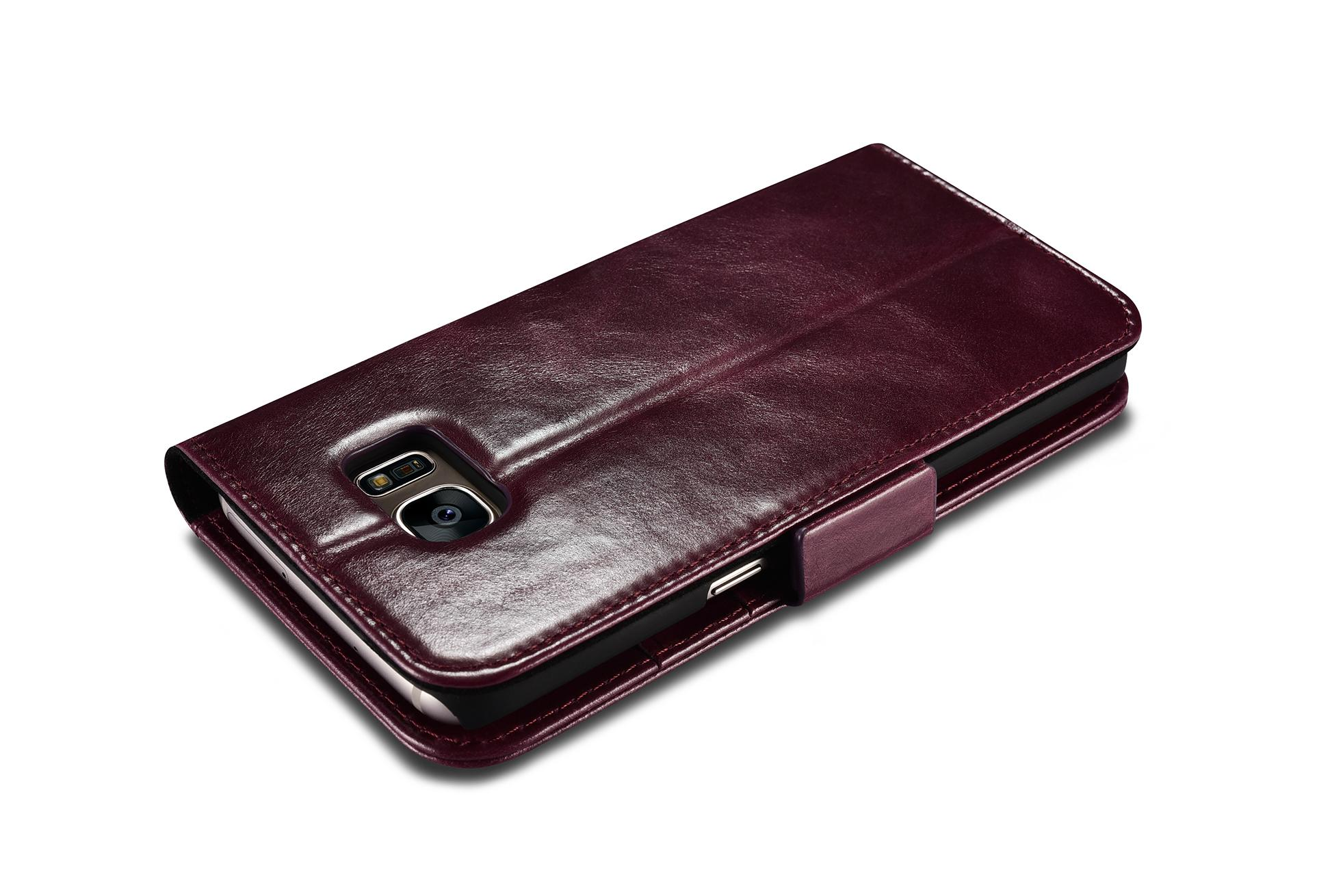 iCarer Samsung Galaxy S7 Edge Leather Detachable 2 in 1 Wallet Folio Case 17