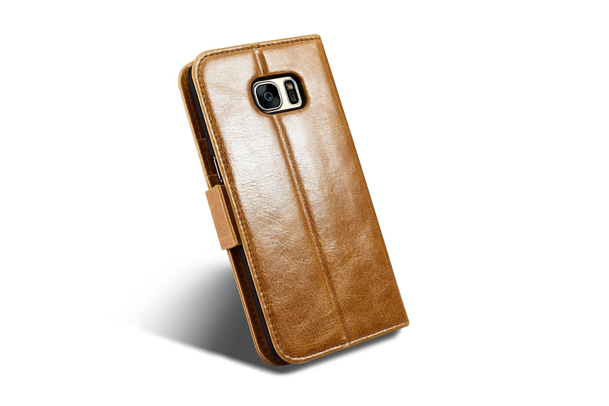 iCarer Samsung Galaxy S7 Edge Leather Detachable 2 in 1 Wallet Folio Case 7