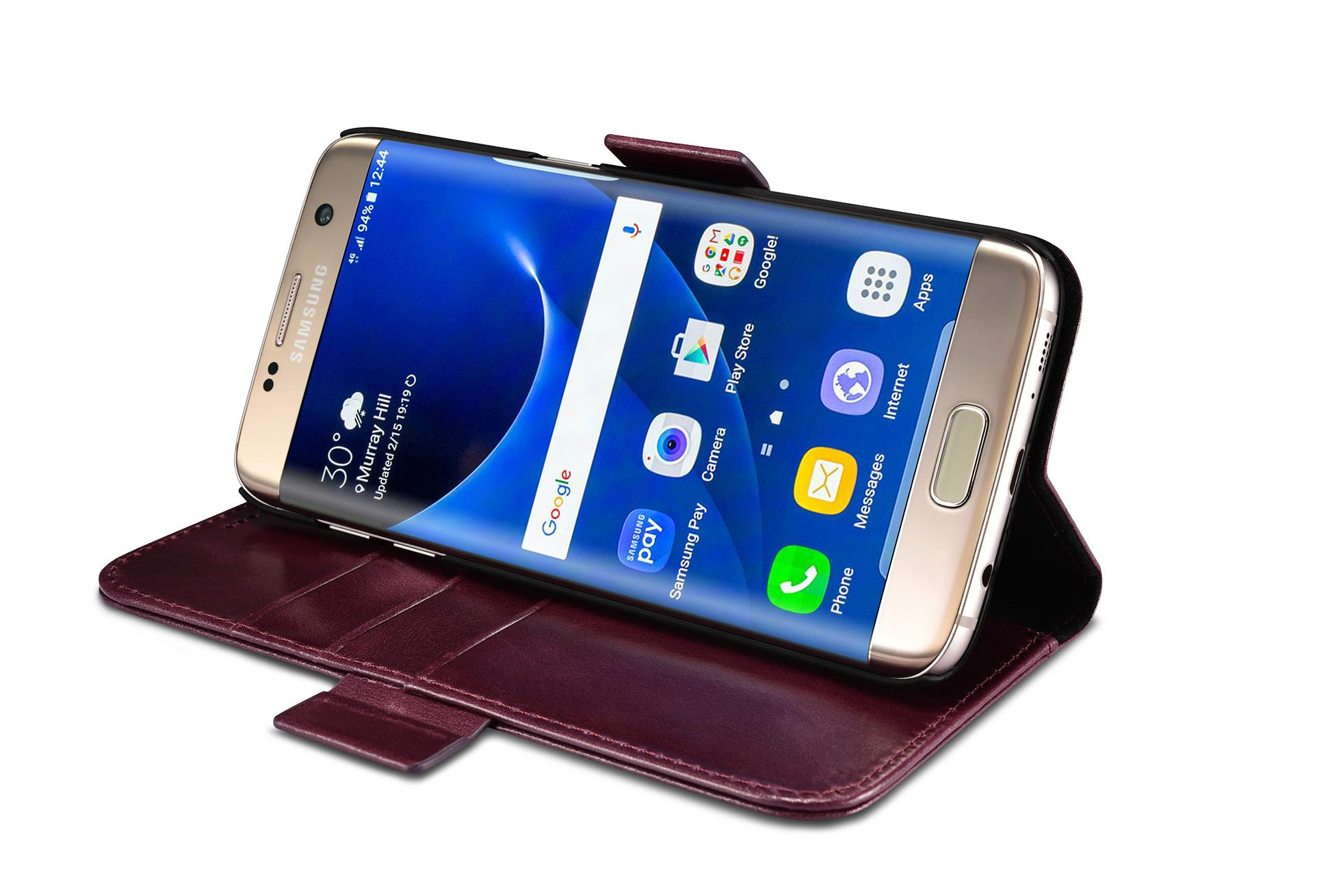 iCarer Samsung Galaxy S7 Edge Leather Detachable 2 in 1 Wallet Folio Case 14