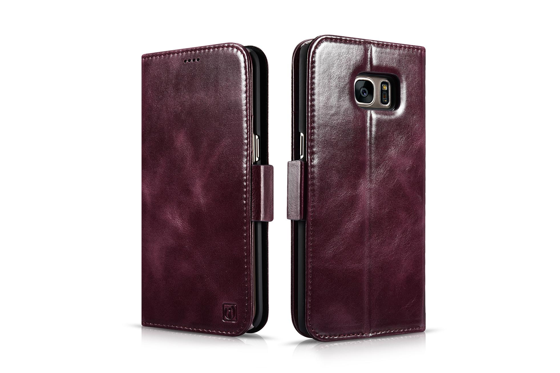 iCarer Samsung Galaxy S7 Edge Leather Detachable 2 in 1 Wallet Folio Case 2