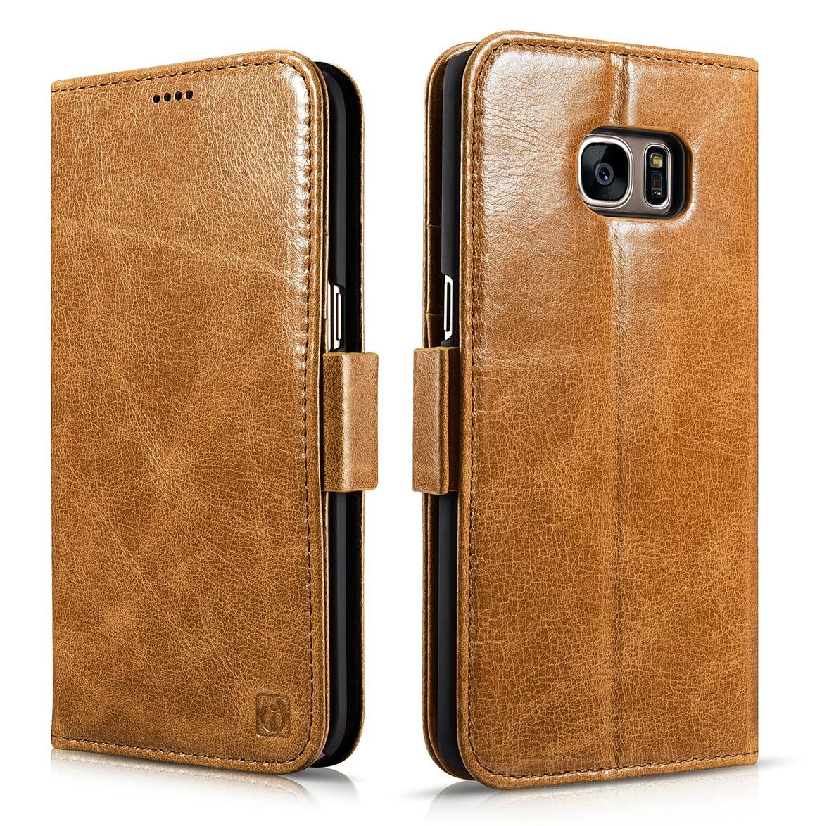 iCarer Samsung Galaxy S7 Edge Leather Detachable 2 in 1 Wallet Folio Case 1
