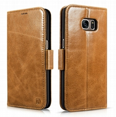 iCarer Samsung Galaxy S7 Edge Leather Detachable 2 in 1 Wallet Folio Case