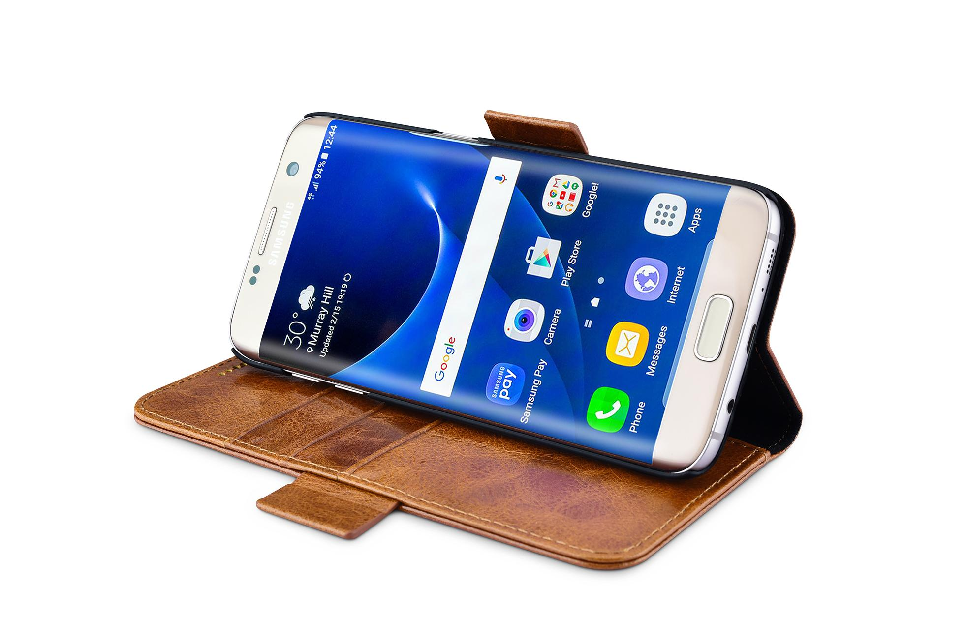 iCarer Samsung Galaxy S7 Edge Oil Wax Leather Detachable 2in1 Wallet Folio Case 11