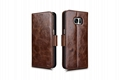 iCarer Samsung Galaxy S7 Edge Oil Wax Leather Detachable 2in1 Wallet Folio Case 17