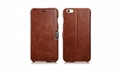 iCarer iPhone 6S Plus Side open Vintage Series Genuine Leather Wallet Stand Case 2