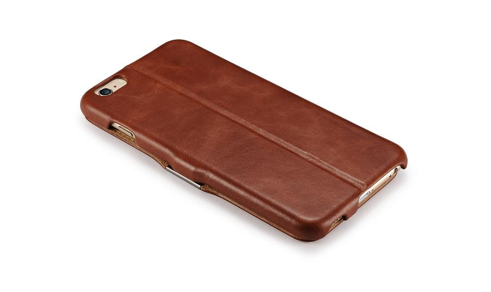 iCarer iPhone 6S Plus Side open Vintage Series Genuine Leather Wallet Stand Case 12