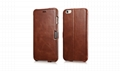 iCarer iPhone 6S Plus Side open Vintage Series Genuine Leather Wallet Stand Case 5