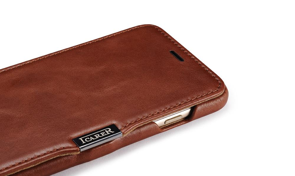 iCarer iPhone 6S Plus Side open Vintage Series Genuine Leather Wallet Stand Case 7