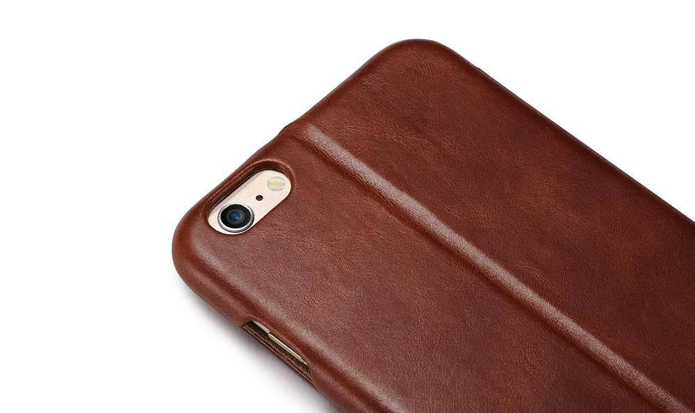 iCarer iPhone 6S Plus Side open Vintage Series Genuine Leather Wallet Stand Case 17