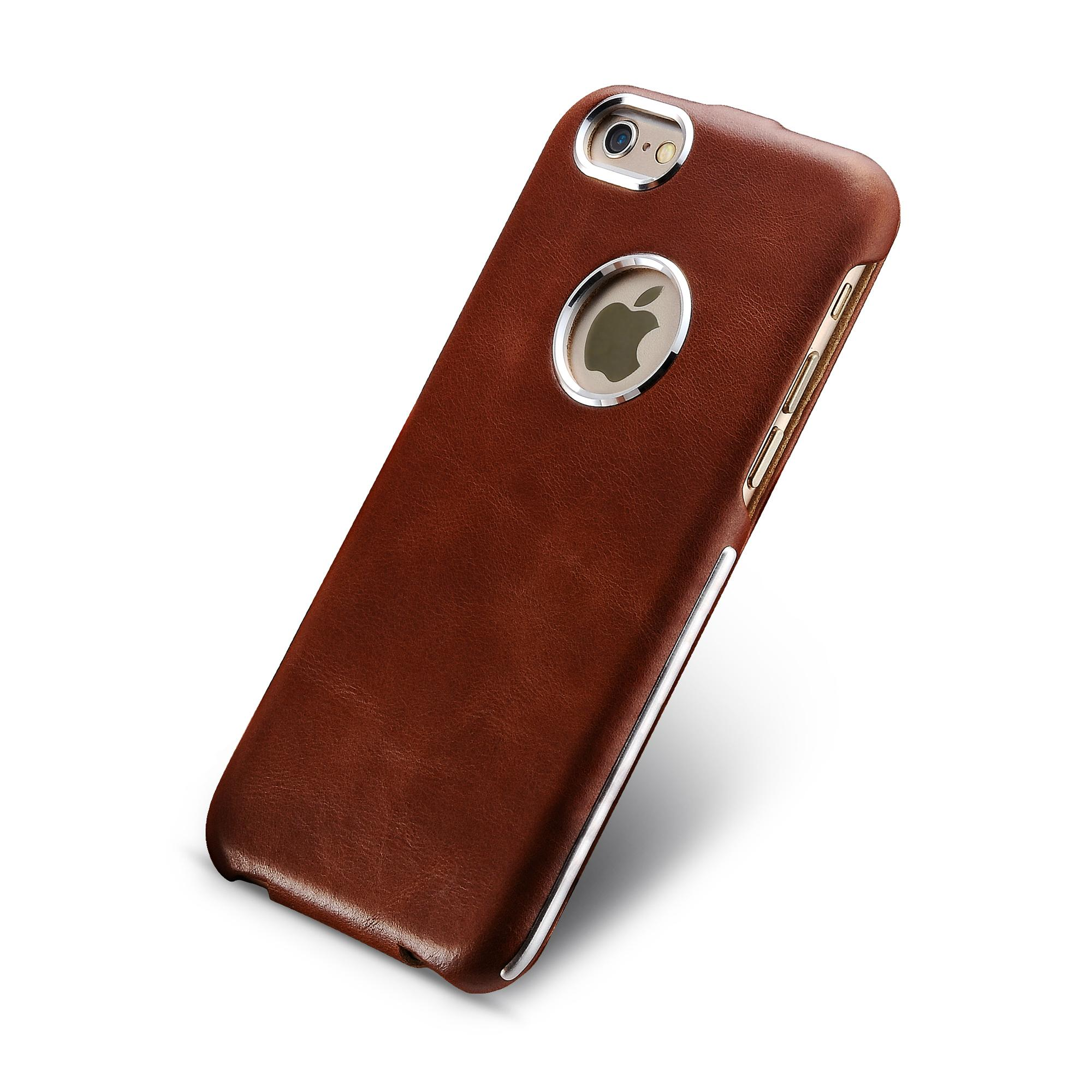 iCarer iPhone 6/6S Metal Warrior Vintage Series Magnetic Flip Leather Case 7