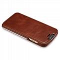 iCarer iPhone 6/6S Metal Warrior Vintage Series Magnetic Flip Leather Case 8