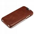 iCarer iPhone 6/6S Metal Warrior Vintage Series Magnetic Flip Leather Case 5