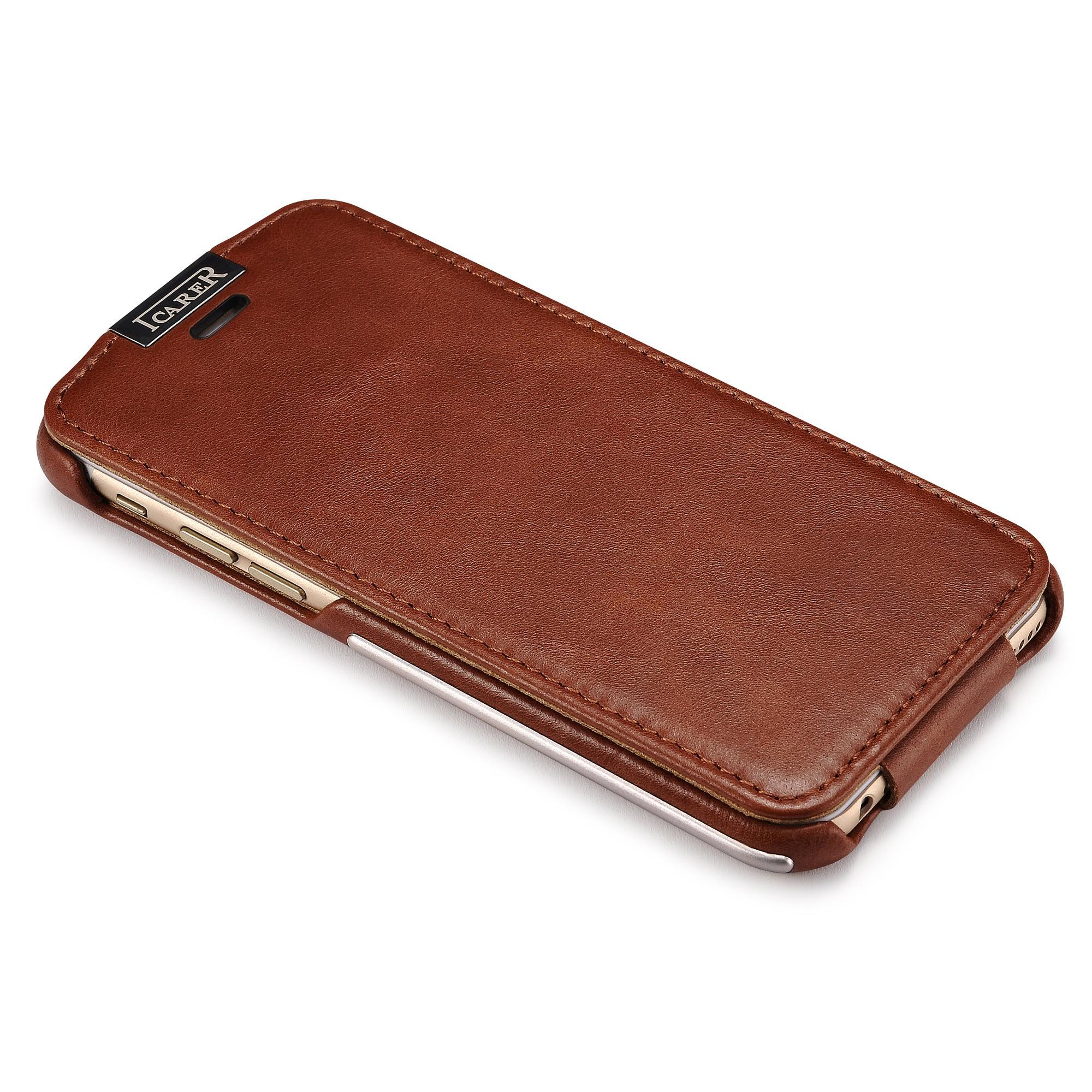 iCarer iPhone 6/6S Metal Warrior Vintage Series Magnetic Flip Leather Case 9
