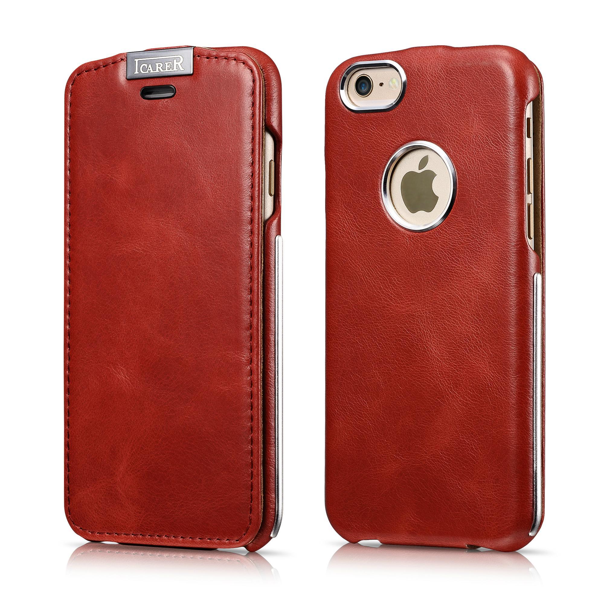 iCarer iPhone 6/6S Metal Warrior Vintage Series Magnetic Flip Leather Case 2