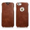 iCarer iPhone 6/6S Metal Warrior Vintage Series Magnetic Flip Leather Case 3