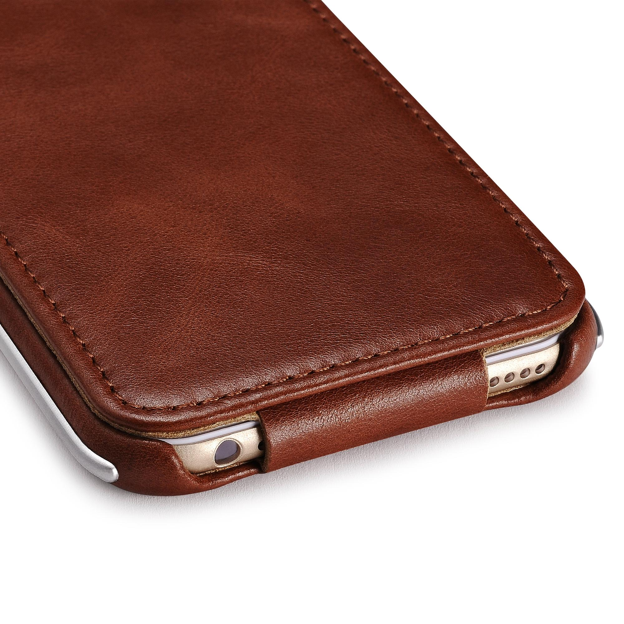 iCarer iPhone 6/6S Metal Warrior Vintage Series Magnetic Flip Leather Case 13