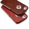iCarer iPhone 6/6S Metal Warrior Vintage Series Magnetic Flip Leather Case 15