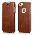 iCarer iPhone 6/6S Metal Warrior Vintage Series Magnetic Flip Leather Case 1