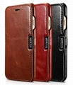 iCarer iPhone 7 Vintage Series Side Open Genuine Leather Case