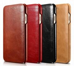 iCarer iPhone 7 Curved Edge Vintage Series Genuine Leather Case