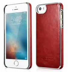 iCarer iPhone SE/5S/5 Vintage Back Cover Series Genuine Leather Case