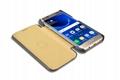 iCarer Samsung Galaxy S7 Edge Embossed Crocodile Genuine Leather Folio Case 8