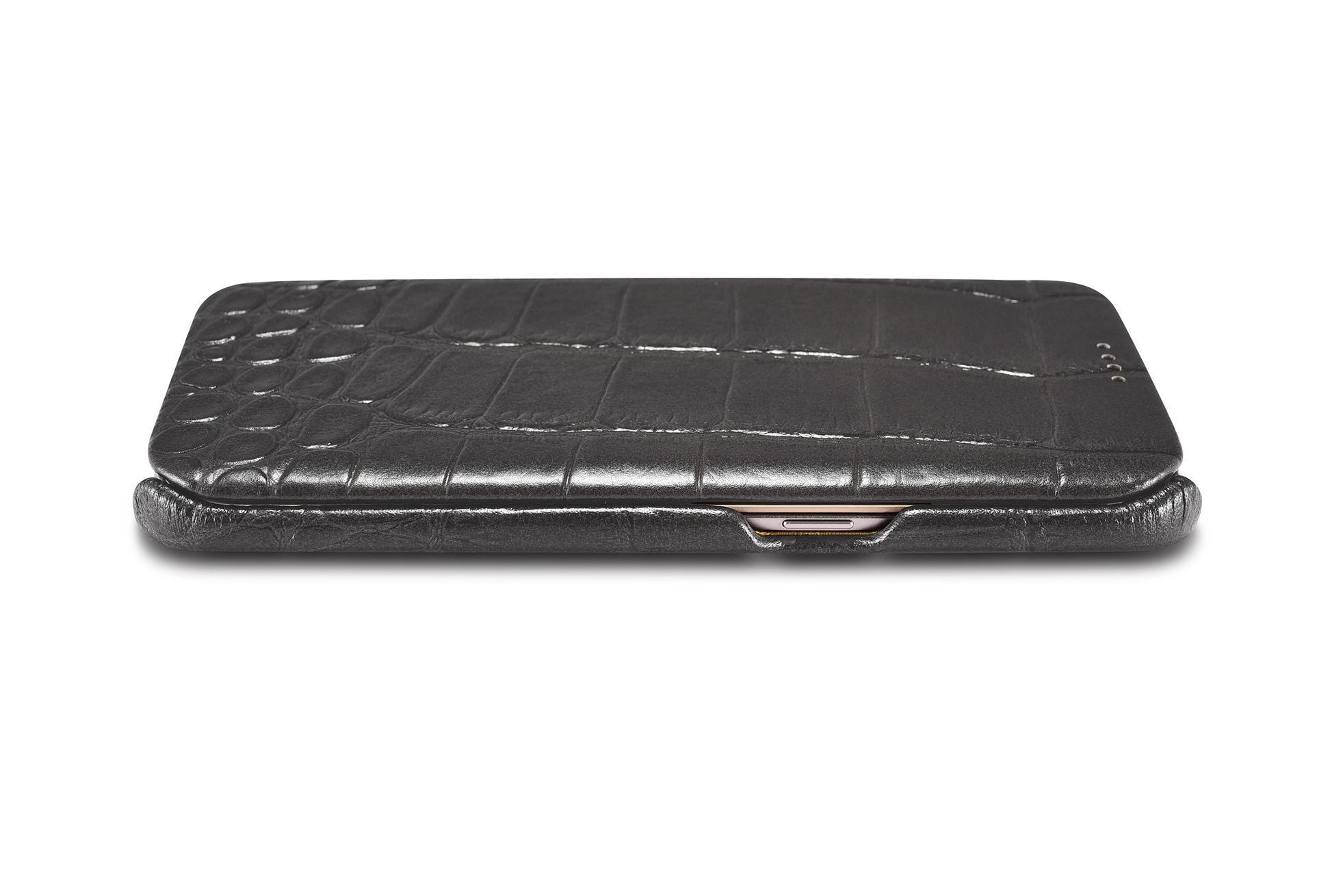 iCarer Samsung Galaxy S7 Edge Embossed Crocodile Genuine Leather Folio Case 6