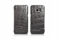 iCarer Samsung Galaxy S7 Edge Embossed Crocodile Genuine Leather Folio Case 14