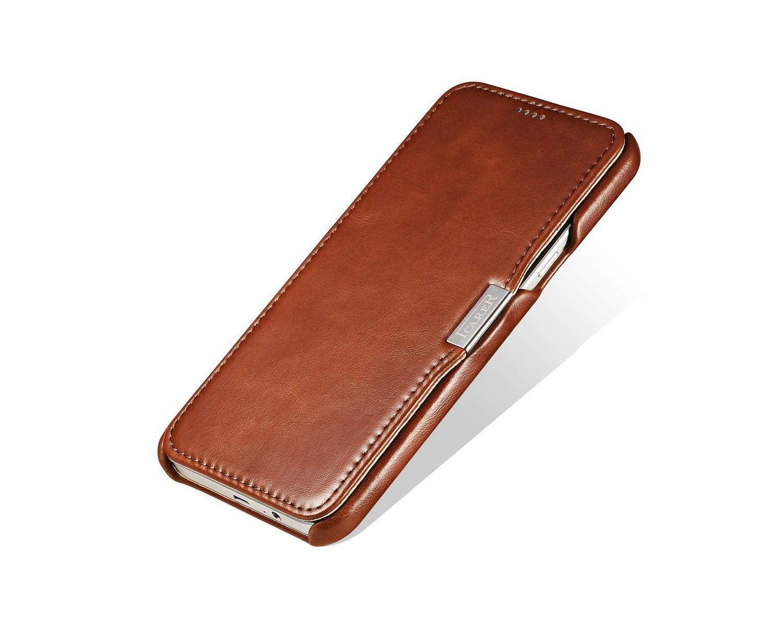 iCarer Samsung Galaxy A8 Case Vintage Series Open Side Genuine Leather Case 5