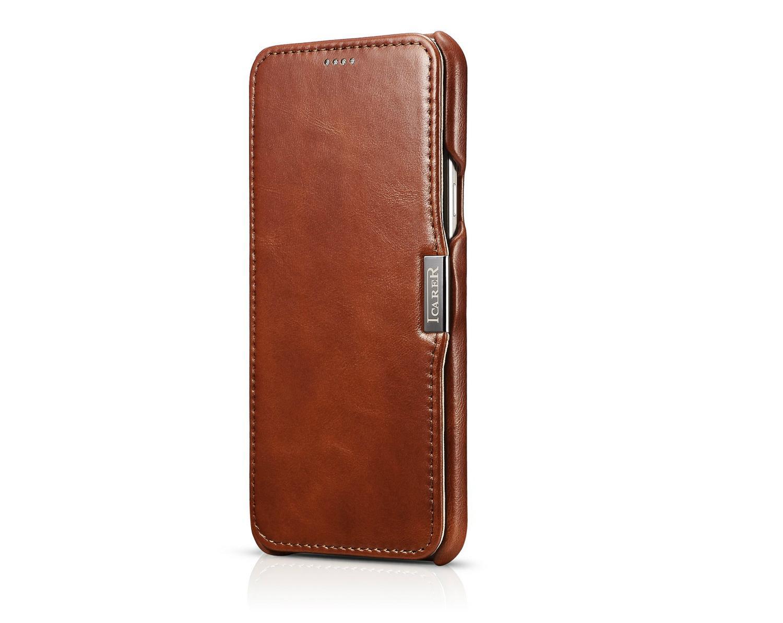 iCarer Samsung Galaxy A8 Case Vintage Series Open Side Genuine Leather Case 4