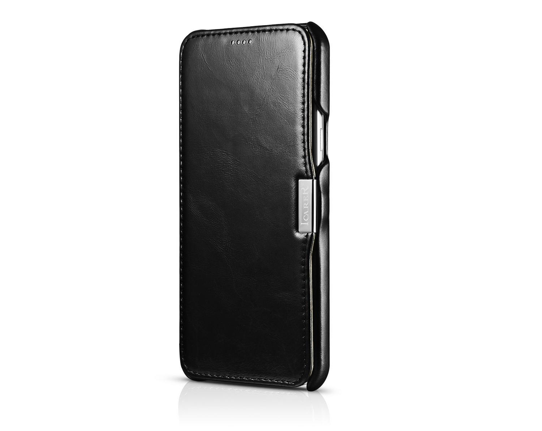 iCarer Samsung Galaxy A8 Case Vintage Series Open Side Genuine Leather Case 9
