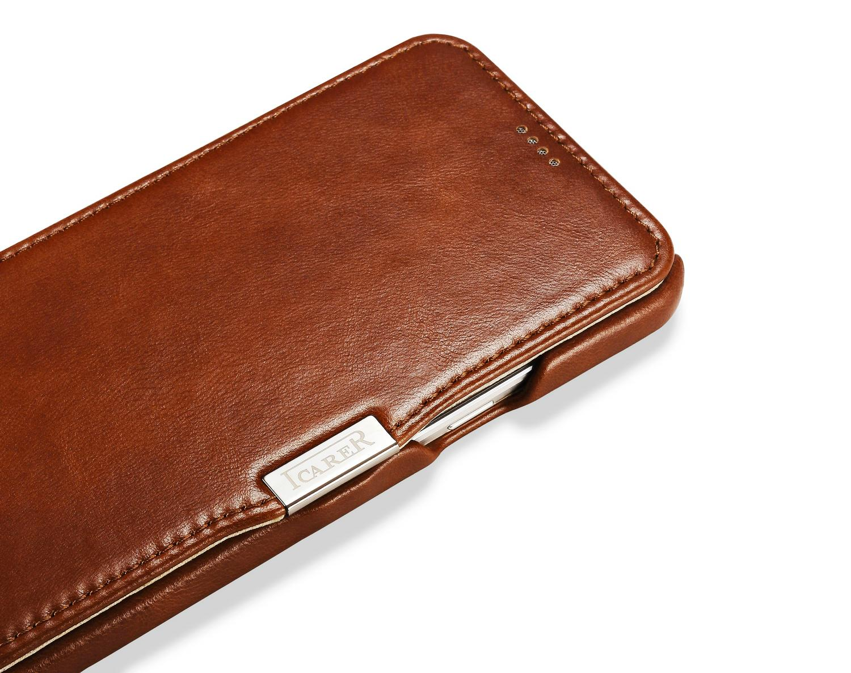 iCarer Samsung Galaxy A8 Case Vintage Series Open Side Genuine Leather Case 7