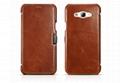 iCarer Samsung Galaxy A8 Case Vintage Series Open Side Genuine Leather Case 2