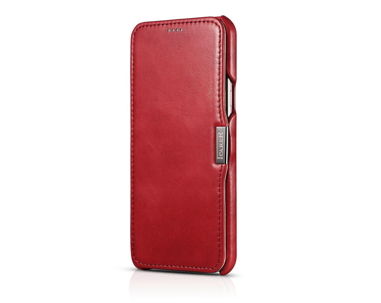 iCarer Samsung Galaxy A8 Case Vintage Series Open Side Genuine Leather Case 12