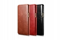 iCarer Samsung Galaxy Note 7 Curved Edge Vintage Side Open Genuine Leather Case 16