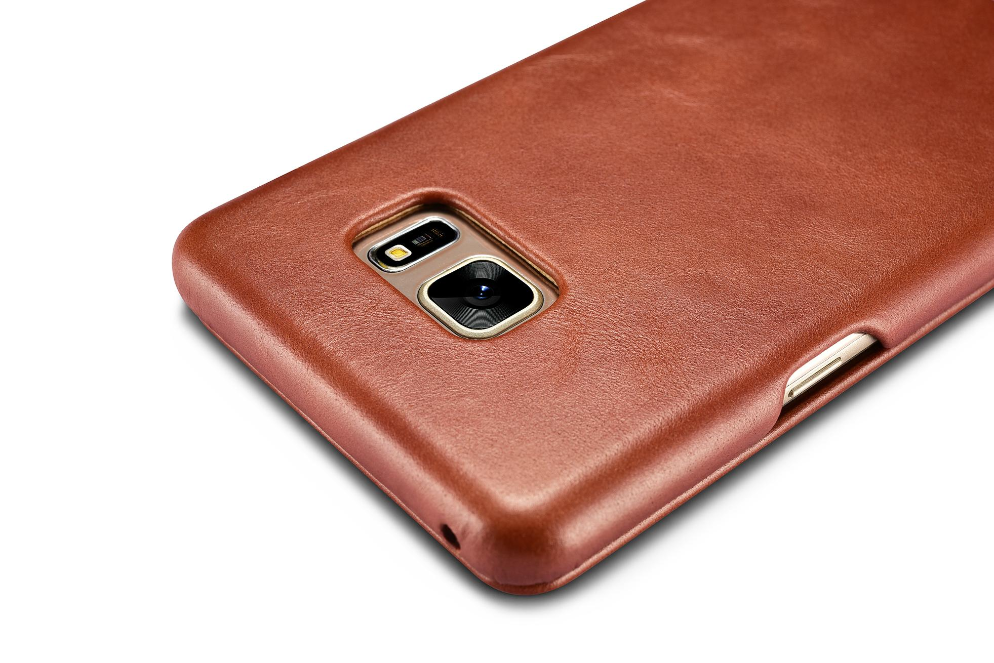 iCarer Samsung Galaxy Note 7 Curved Edge Vintage Side Open Genuine Leather Case 9