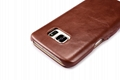 iCarer Samsung Galaxy S7 Vintage Series Side Open Genuine Leather Case 11