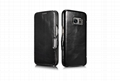 iCarer Samsung Galaxy S7 Vintage Series Side Open Genuine Leather Case 13