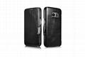 iCarer Samsung Galaxy S7 Vintage Series Side Open Genuine Leather Case