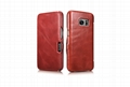 iCarer Samsung Galaxy S7 Vintage Series Side Open Genuine Leather Case 14